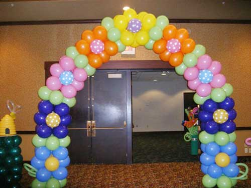 Toronto balloon decorations balloon arches and pillars for Balloon decoration arches