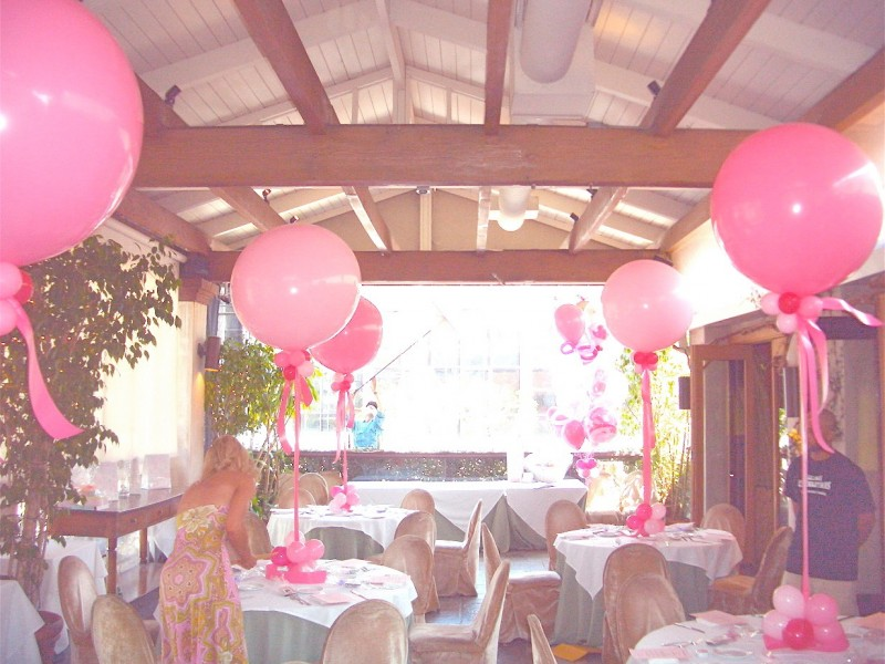 36'' pink topiary