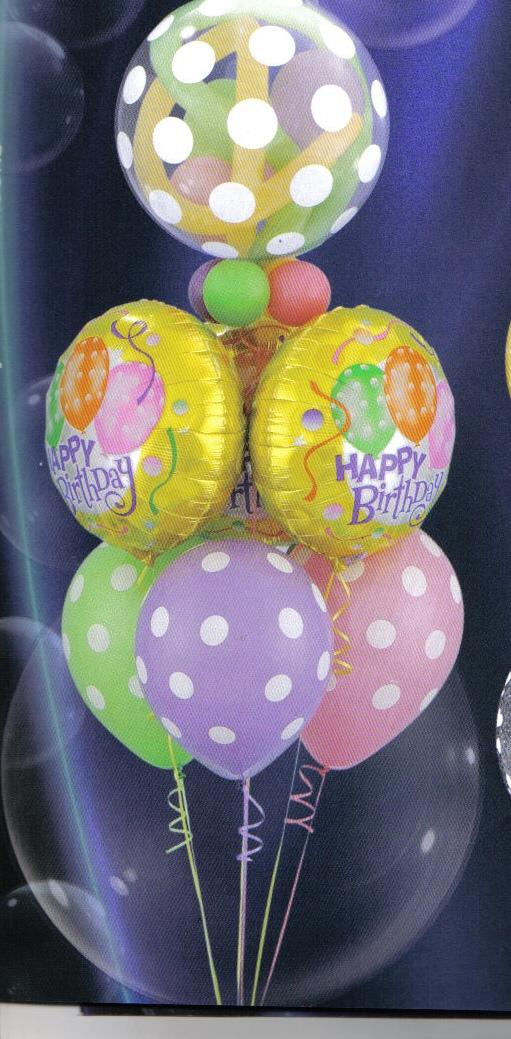 Restaurant reservation balloon bouquet for Balloon arrangement ideas