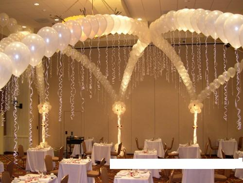 Balloon decorations for wedding and bridal showers for Floor decoration ideas