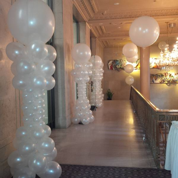 Balloon ceiling party decorations balloon celebrations for Ballon wedding decoration